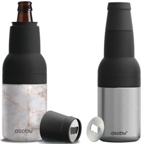 Asobu Frosty Beer-2-Go Chiller Bottle and Can Cooler, 2 Pack (Assorted Colors)