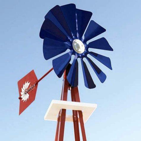 9' Red, White & Blue Backyard Windmill