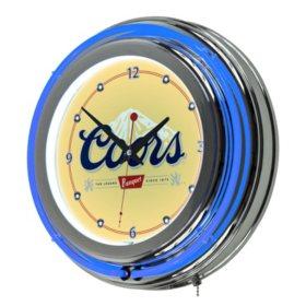 """Coors Banquet 14"""" Neon Wall Clock"""