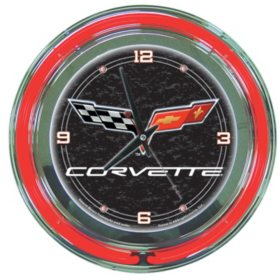 Corvette C6 Neon Clock (Assorted Colors)