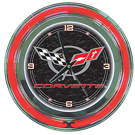 Corvette C5 Neon Clock (Assorted Colors)
