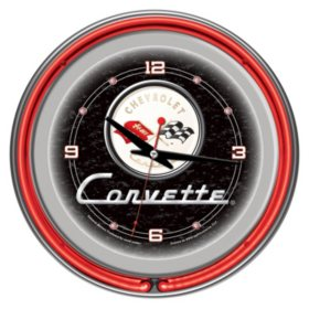 "Corvette C1 Neon Clock , 14"" Diameter (Assorted Colors)"