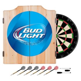Bud Light Dart Cabinet with Darts and Board (Assorted Styles)