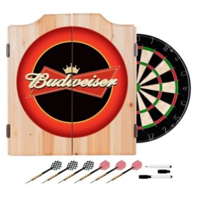 Budweiser Dart Cabinet with Darts and Board