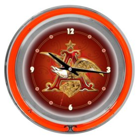 "Budweiser A & Eagle 14"" Neon Wall Clock"