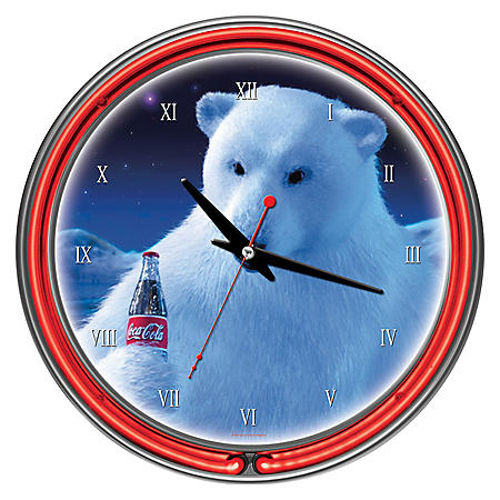 Coca-Cola Neon Clock, Polar Bear (Assorted Styles)