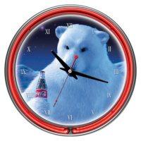 Coca-Cola Neon Clock, Polar Bear (Assorted Styles)