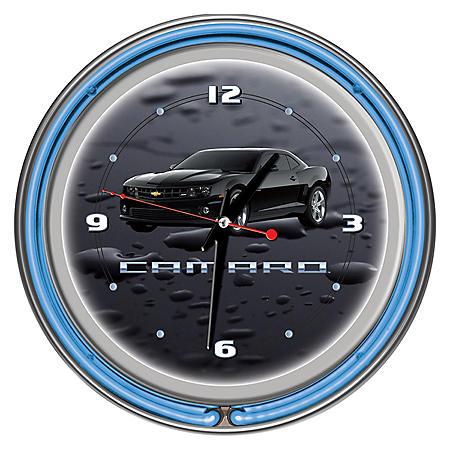 "Black Camaro 14"" Neon Clock"