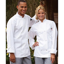 Chef Coat, White (LG, Fits 44-46 Chest)