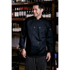 Mesh Back Chef Coat, Black (X-Small - 4XL)