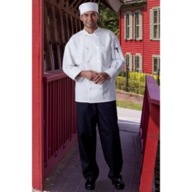 Mesh Back Chef Coat, White (X-Small - 3XL)