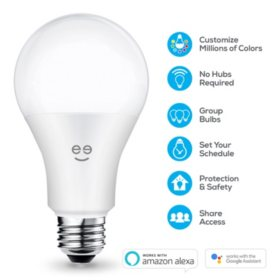Geeni 4-Pack Smart Wi-Fi LED Color + White Light Bulb