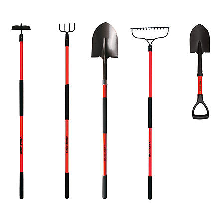 Black & Decker Long Handled Garden Tools 5-Piece Set