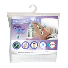 Protect-A-Bed Health-Ensure Cool Pillow Protector, Waterproof (Assorted Sizes)