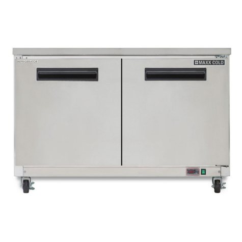 Maxx Cold X-Series Double Door Undercounter Commercial Refrigerator in Stainless Steel (12 cu. ft.)