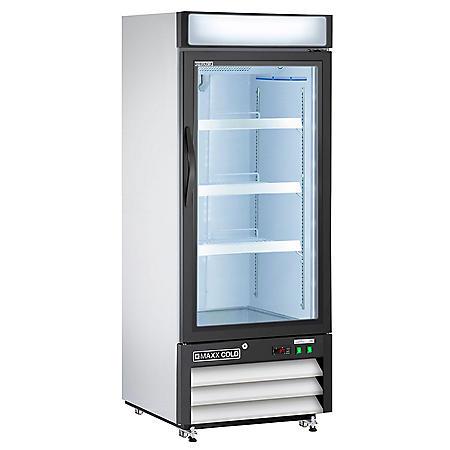 Maxx Cold X-Series Single Door Merchandiser Refrigerator, White (12 cu. ft.)