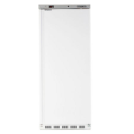 Maxx Cold Single Door Commercial Reach-In Refrigerator, White (23 cu. ft.)