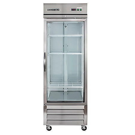 Maxx Cold X-Series Single Glass Door Commercial Refrigerator, Stainless Steel (23 cu. ft.)