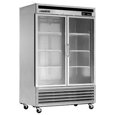 Maxx Cold MXM2-48F X-Series Reach In Freezer Two 2 Glass Doors