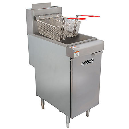 Cayvo 40-lb. Commercial Fryer (Natural Gas or Liquid Propane)