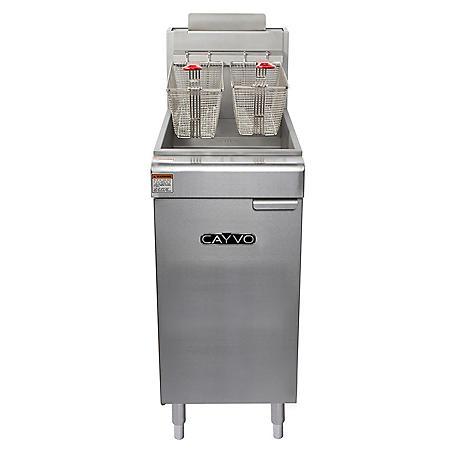 Cayvo Four Tube Free-Standing Liquid Propane Gas Fryer (50 lb. capacity)
