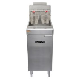 Cayvo Four Tube Free-Standing Liquid Propane Gas Fryer (50 lb. capacity)