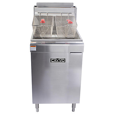 Cayvo Five Tube Free-Standing Natural Gas Fryer (70 lb. capacity)
