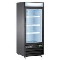 X-Series Single Door Merchandiser Freezer, Black (12 cu. ft.)
