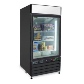X-Series Single Door Merchandiser Freezer, Black (12 cu. ft.)
