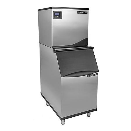 "Maxx Ice 22"" Wide Full Dice Ice Machine (360 lbs.) with 310 lb. Bin"