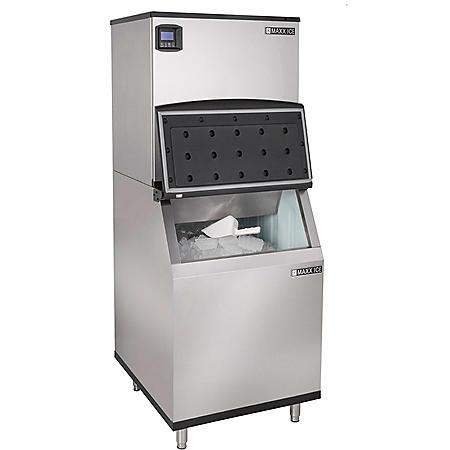 "Maxx Ice 30"" Wide 1,000 lb. Half Dice Ice Machine with 580 lb. Bin"