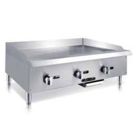 """Cayvo Stainless Steel Gas Griddle 36"""" (Choose Liquid Propane or Natural Gas)"""