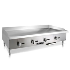 "Cayvo Stainless Steel Gas Griddle, 48"" (Choose Liquid Propane or Natural Gas)"
