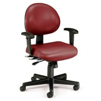 OFM 24 Hour Ergonomic Task Chair with Arms, Mid Back, Choose a Color (241-VAM-AA)