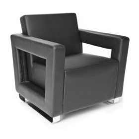 OFM Distinct Series, Polyurethane Soft Seating Lounge Chair with Chrome Base, Model 831, Choose a Color