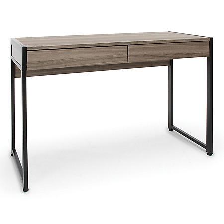 Essentials by OFM 2-Drawer Office Desk, Model ESS-1002, Driftwood