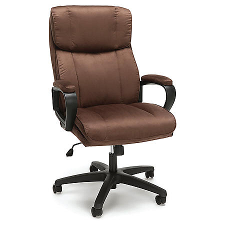 OFM Essentials Collection Plush High-Back Microfiber Office Chair, Choose a Color (ESS-3081)