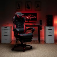 RESPAWN S110 Racing Style Gaming Chair, Reclining Ergonomic Chair with Footrest, Choose a Color (RSP-S110)