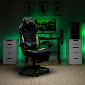 Respawn-S110 Racing-Style Gaming Chair, Reclining Ergonomic Leather Chair with Footrest (Various Colors)