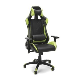 OFM Essentials Collection Racing Style Bonded Leather Gaming Chair (ESS-6066), Assorted Colors