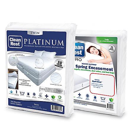 CleanRest Platinum Encasing Waterproof Mattress Pad Set (Assorted Sizes)