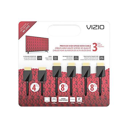 VIZIO M-Series TXCHMT-C2K High-Speed HDMI® Cable – 3 Pack (4', 8' & 8')