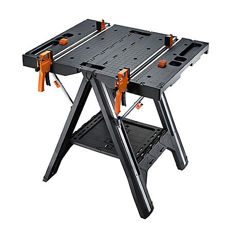 WORX Pegasus Folding Work Table and Sawhorse with Clamps