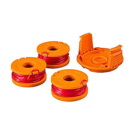 10' Single Feed Trimmer Line Spools and Spool Cap (3 pc.)
