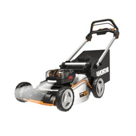 "Worx Nitro WG753 40V Power Share Cordless 21"" Self-Propelled Lawn Mower, 2X 5.0Ah Batteries"