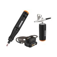 Worx 20V Power Share Cordless MAKERX Combo Kit - Rotary Tool + Airbrush with 45 Accessories