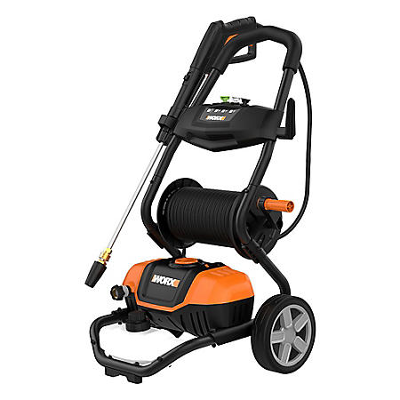 1600 PSI - 13A Pressure Washer with Rolling Cart