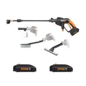 WORX 20V Hydroshot Portable Power Cleaner w/ 3 Batteries