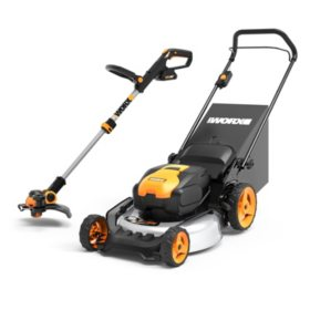 "WORX 20"" Deck Cordless Mower Trimmer Combo Kit"