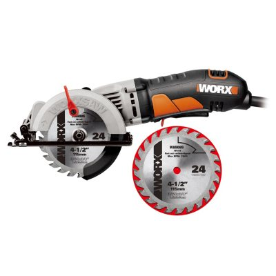 WORX 4-1/2 Compact Circular Saw with Bonus Blade